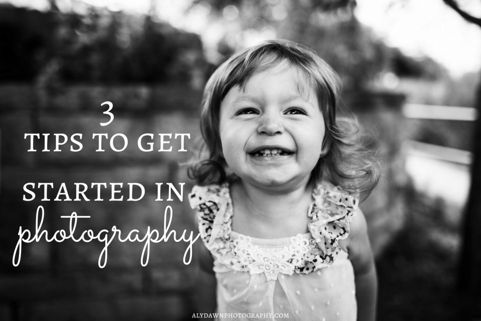 3 Tips to Get Started in Photography - FREE guide to beginner photography!